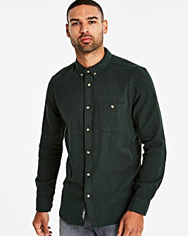 Jacamo Flannel Plain L/S Shirt L