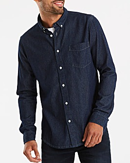 Jacamo Indigo Denim L/S Shirt Long