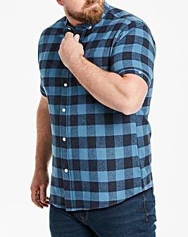 Jacamo Blue Buffalo Check S/S Shirt Reg