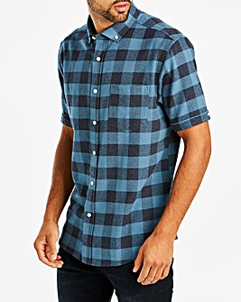 Jacamo Blue Buffalo Check S/S Shirt Long