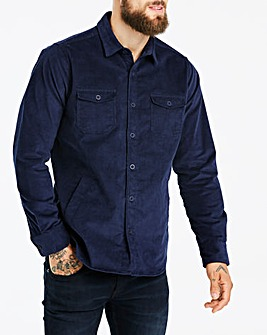 Jacamo Navy Cord L/S Overshirt Long
