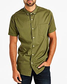 Khaki Longline S/S Shirt
