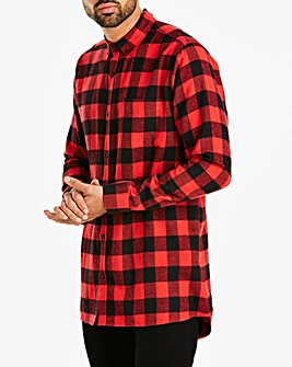 Jacamo Longline Check L/S Shirt Regular