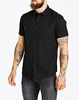 Jacamo Black Military S/S Shirt Long