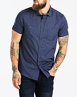 Jacamo Navy Military S/S Shirt Long