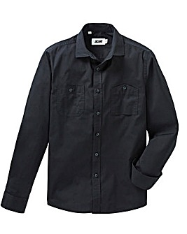 Jacamo Black Military L/S Shirt Regular