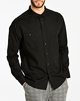 Jacamo Black Military L/S Shirt Long
