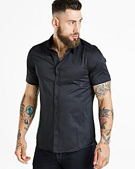 Jacamo Black Muscle Fit S/S Shirt Reg