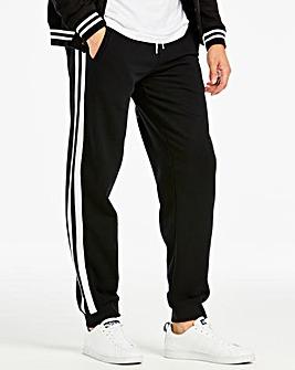 Jacamo Black Side Stripe Joggers Regular