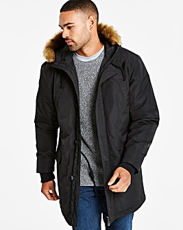 Jacamo Black Parka Regular