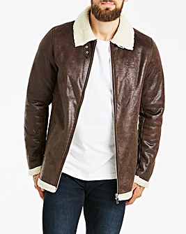 Brown Faux Sheepskin Jacket
