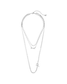 Lipsy Love Multirow Necklace