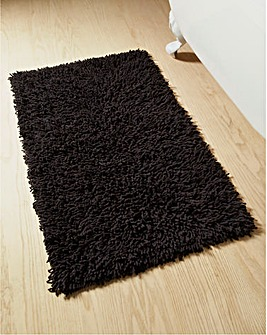 Everyday Twist Cotton Bath Mat Black