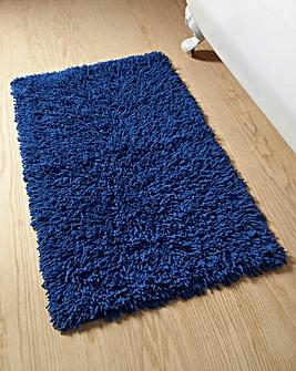 Everyday Heavyweight Twist Cotton Bath Mat - Mediterranean Blue