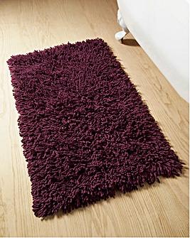 Everyday Twist Cotton Bath Mat Aubergine