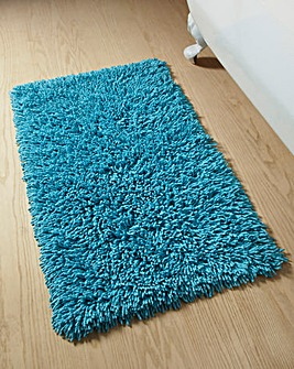 Everyday Twist Cotton Bath Mat Aqua