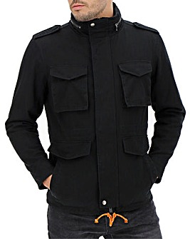 Black Borg Lined Jacket Long
