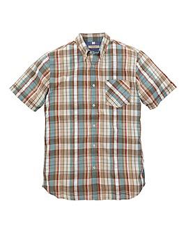 WILLIAMS & BROWN Short-Sleeve Seersucker Shirt Long