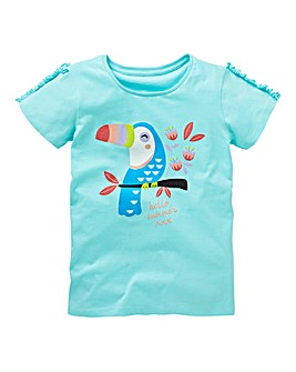 KD Girls Frill Sleeve Toucan Tee