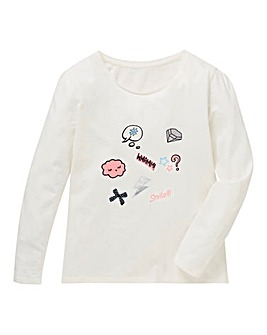 KD Girls L/S Badge Print T-Shirt