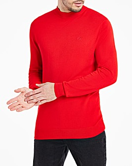 Red Long Sleeve High Neck Jumper