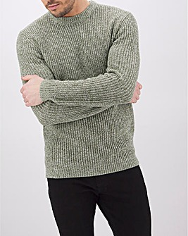 Green Twisted Crew Neck Jumper