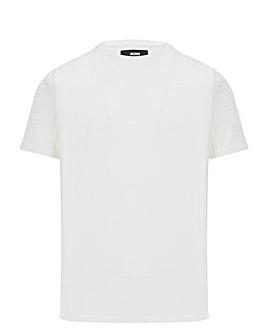 Ecru Knitted Raw Edge T Shirt