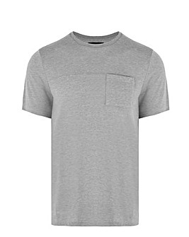 Grey Knitted Pocket T Shirt