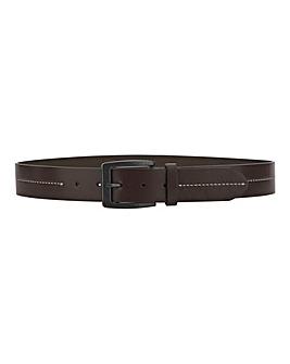 Bonded Leather Oxblood Belt