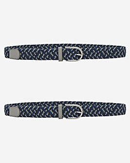 Two Pack Canvas Multi Colour Belts