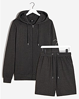 Lounge Short and Zip Hoodie Set