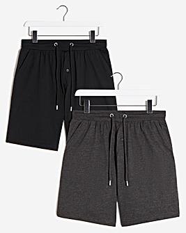 2 Pack Elasticated Waist Shorts