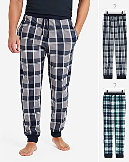 2 Pack Check Cuffed Lounge Pant