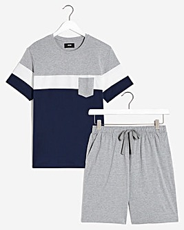 PJ Colour Block Tee and Short Set