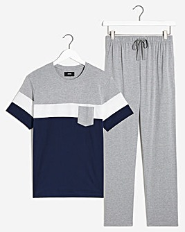 PJ Colour Block Tee and Pant Set