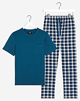 PJ Tee and Gingham Long Pant Set