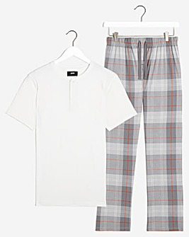 PJ Tee and Block Check Pant Set