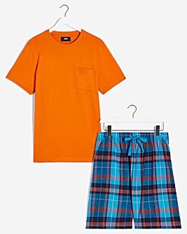 PJ Tee and Check Shorts Set