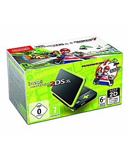 Nintendo 2DS XL Black & Lime Mario Kart