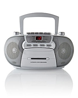 CD Radio Cassette White/Silver