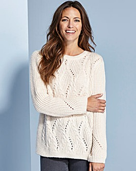 Cable And Pointelle Jumper
