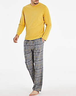 Grey Check Long Sleeve Pyjama Set