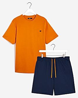 Rust/Navy T-Shirt and Short Set