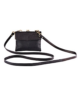 Leather Purse With Shoulder Strap