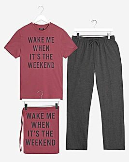 Graphic PJ Set with Bag