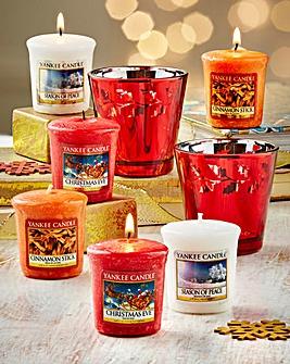 Yankee Candle Holly Votive Holder Set