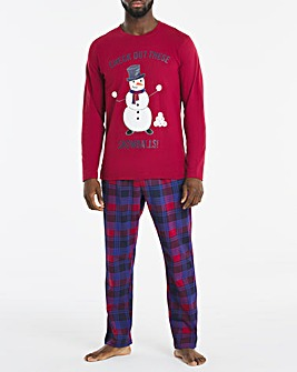 Xmas Snowman Novelty Pyjama Set