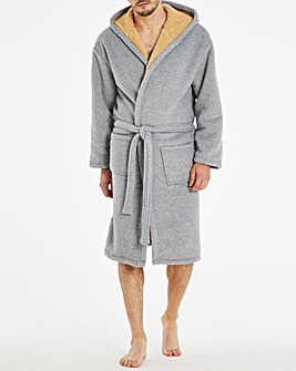 Grey Borg Fleece Lined Dressing Gown