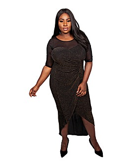 Scarlett & Jo Mesh Lurex Maxi Dress