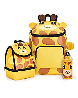 Baby Animal Giraffe Backpack and Lunch